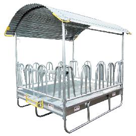 Râtelier à arceaux sécurisé, 2 x 3 m, 14 places