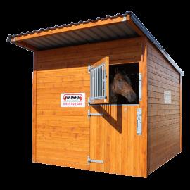 Box à chevaux en bardage bois