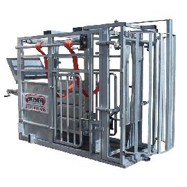 Cage de contention (porte avant guillotine + porte arrière à ouverture pivotante)