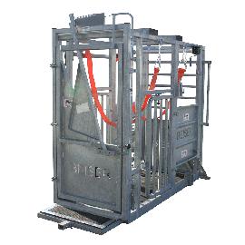 Cage de contention (porte avant cornadis + porte arrière à ouverture latérale)