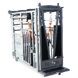Cage de contention (porte avant guillotine + porte arrière à ouverture latérale)