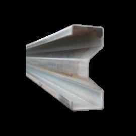 Poteau avec kit de fixation pour glissières