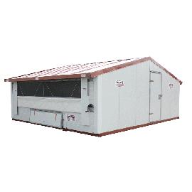 Poulailler ou bâtiment mobile pour élevage avicole en kit 30 m2 structure galvanisée