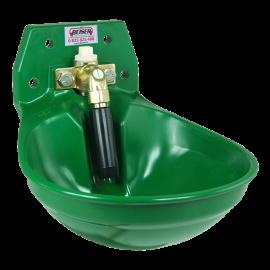 Abreuvoir à tube avec raccordement haut et bas vert