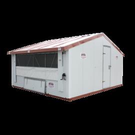 Poulailler ou bâtiment mobile pour élevage avicole en kit 12 m2
