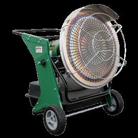 Chauffage diesel radiant sur roues