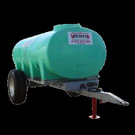 Citerne en plastique PEHD 6000 L sur châssis agraire