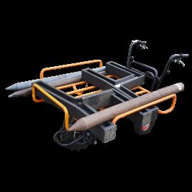 Brouette avec moteur électrique et support de charge tubulaire