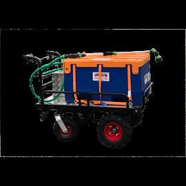 Kit d'arrosage 125L (PEHD) sur châssis motorisé électrique 12V