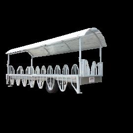 Remorque libre services à arceaux galvanisé 6m 20 places