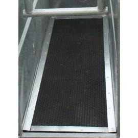Tapis caoutchouc martelé 10mm pour cage à écorner