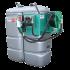 """Beiser Environnement - Station fuel double paroi PEHD sans odeur 2000 L """"modèle Confort+"""" avec enrouleur et limiteur de remplissage 2"""" - Point de vue d'ensemble"""