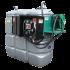 """Station citerne fuel double paroi en plastique PEHD sans odeur 1000 L sécurisée - Modèle Confort + avec limiteur de remplissage 2"""""""