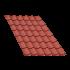 Beiser Environnement - Tôle tuile terra cotta, 4,5 m