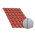 Beiser Environnement - Tôle tuile terra cotta, anticondensation, 4,5 m