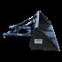 Beiser Environnement  - Godet de chargement hydraulique 1,50 m avec passages de fourches - Vue de profil