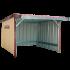 Beiser Environnement - Abri en kit bardé 9 x 6 m - Vue d'ensemble