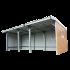 Beiser Environnement - Abri en kit bardé avec tôle imitation bois - Vue de face
