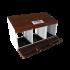 Beiser Environnement - Pondoir à suspendre en kit 3 compartiments - Vue ouvert