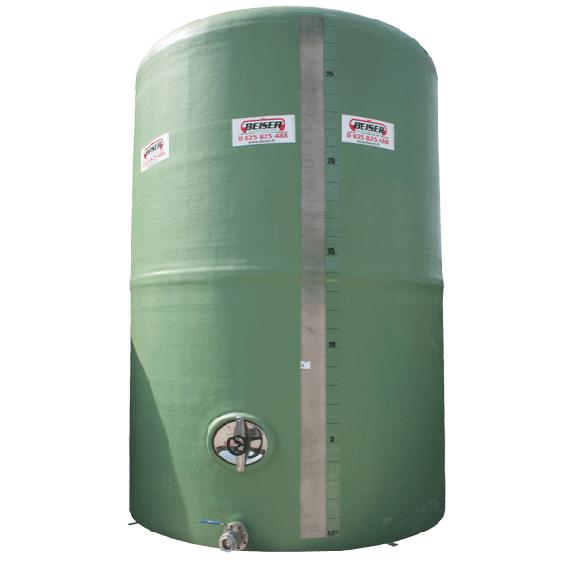 Citerne polyester 40000 litres verticale