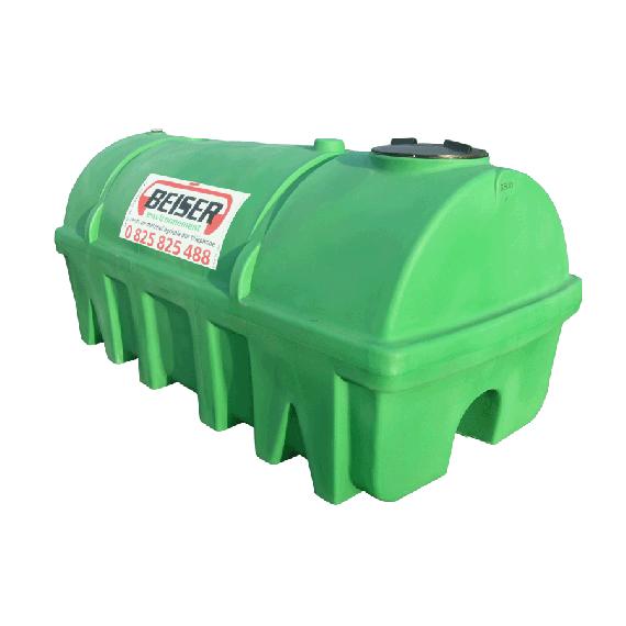 Citerne verte en plastique PEHD 2750 litres densité 1300 kg/m3