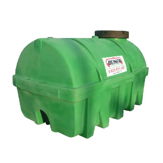 Citerne verte en plastique PEHD 5000 litres densité 1300 kg/m3