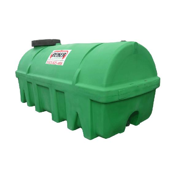 Citerne verte en plastique PEHD 7500 litres densité 1300 kg/m3