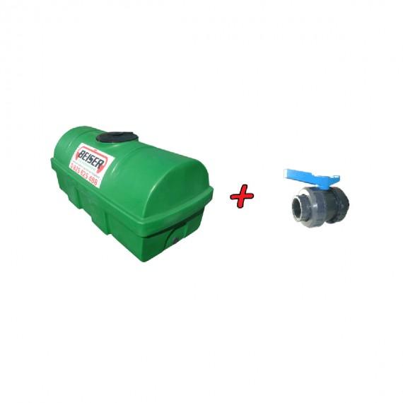 """Kit citerne en PEHD 1200L densité 1300 kg/m3 (EP) + Vanne PVC 2"""" + Raccord pompier mâle"""
