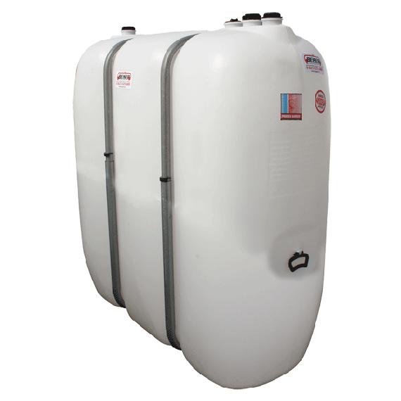 Citerne fuel blanche PEHD renforcé avec renforts métalliques 1600 litres
