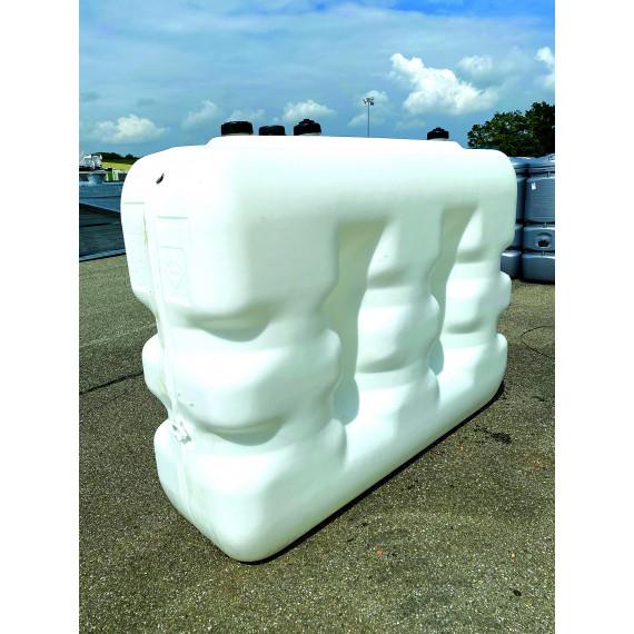 Citerne fuel blanche en plastique PEHD avec renforts 2500 litres
