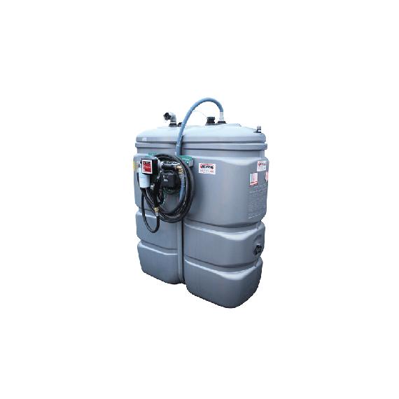 """Station fuel double paroi PEHD sans odeur 750 L """"modèle Confort"""" avec limiteur de remplissage 2"""""""