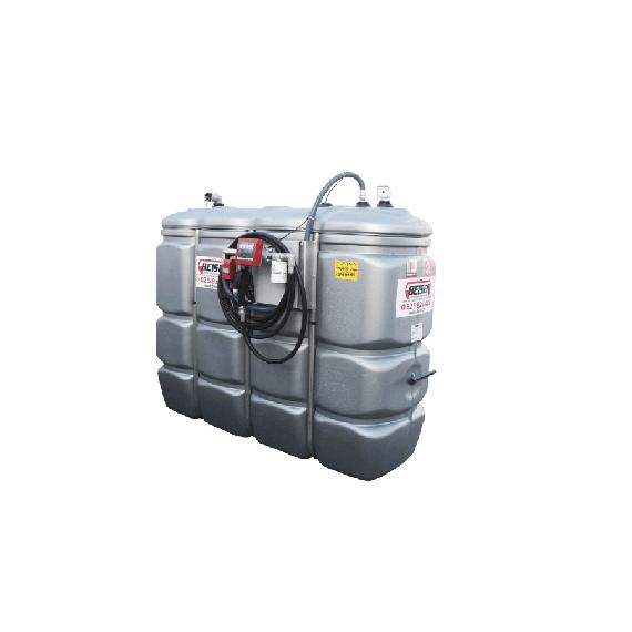 """Station citerne fuel double paroi en plastique PEHD sans odeur 1500 L """"modèle Confort"""" avec limiteur de remplissage 2"""""""