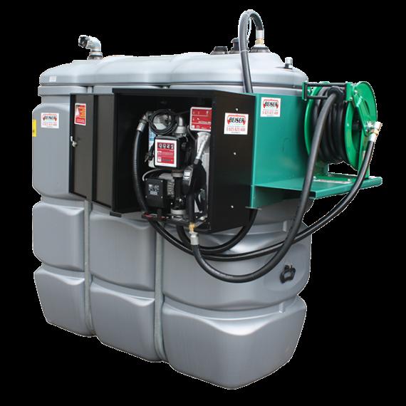 """Station fuel double paroi PEHD sans odeur 2000 L sécurisée - Modèle Confort + avec limiteur de remplissage 2"""""""