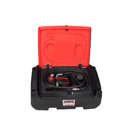 Pack transport du fuel en plastique PEHD 125 L, avec pompe 35 L/min, 12 V