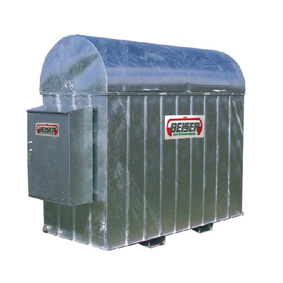 Bac de rétention galvanisé pour citerne fuel en plastique PEHD 1000 L avec armoire