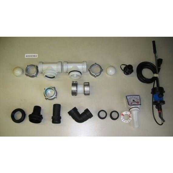 Kit A de raccordement, pour citerne fuel polyéthylène renforcée avec renforts métalliques