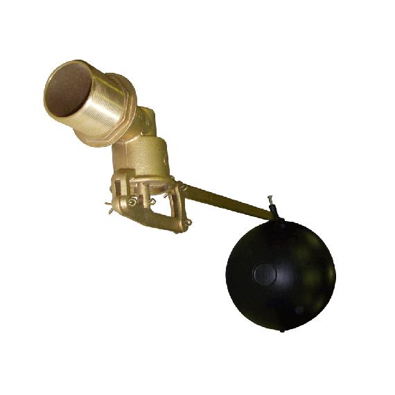 """Robinet laiton 3/4"""" avec flotteur en PVC"""
