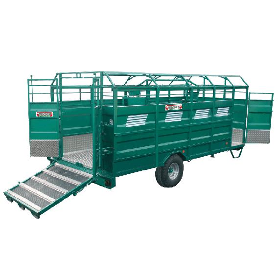 Bétaillère ACIER plancher aluminium, Longueur 7,50 m, sans option