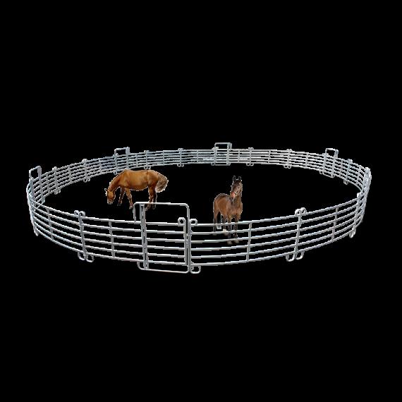 Rond de longe pour chevaux 6 portes (Ø 20 m) + kit de transport