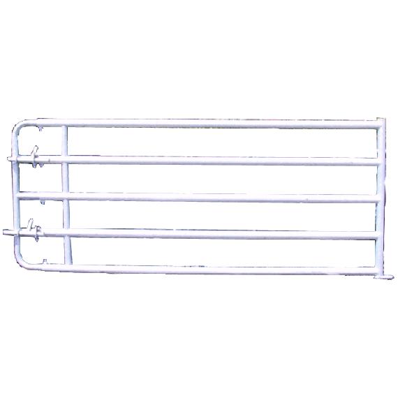 Barrière de stabulation extensible avec verrous, 5 lisses, 5/6 m
