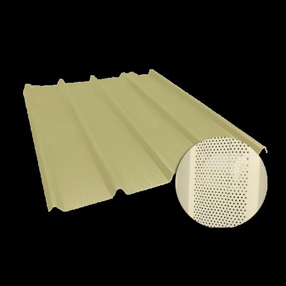 Tôle nervurée 45-333-1000, 60/100e jaune sable perforée - 4,5 m