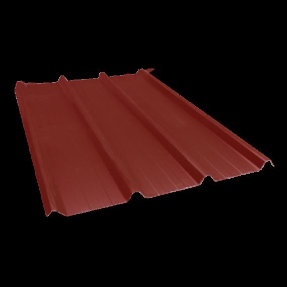 Tôle nervurée 45-333-1000, 70/100e brun rouge - 4,5 m