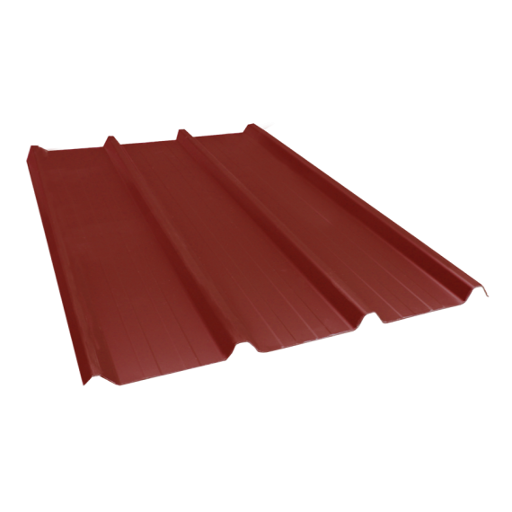 Tôle nervurée 45-333-1000, 70/100e brun rouge - 6,5 m