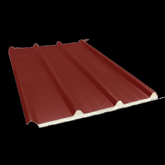 Tôle nervurée 45-333-1000 isolée sandwich 80 mm, brun rouge RAL8012 - 4 m