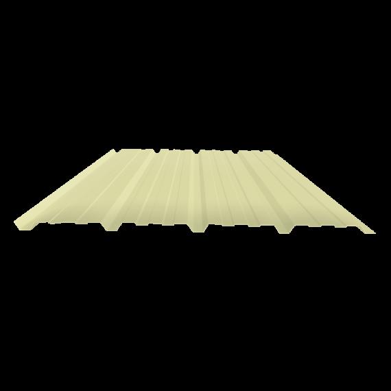 Tôle nervurée 25-267-1070, 60/100e jaune sable bardage - 4 m