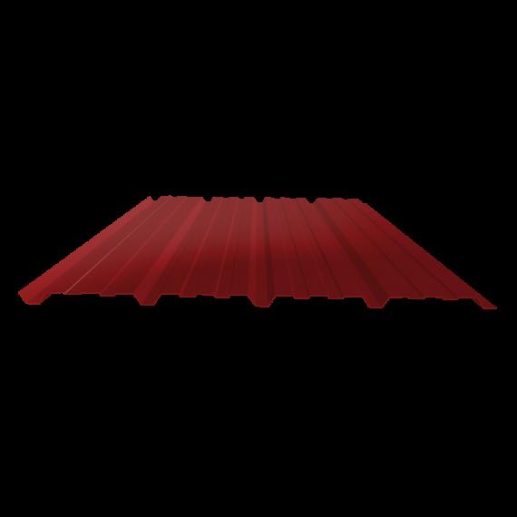 Tôle nervurée 25-267-1070, 70/100e brun rouge bardage - 3 m