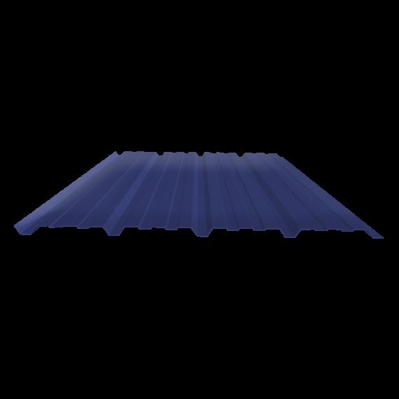 Tôle nervurée 25-267-1070, 70/100e bleu ardoise bardage - 2 m