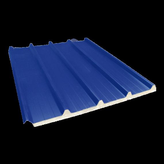 Tôle nervurée 33-250-1000 isolée économique 60 mm, bleu ardoise RAL5008, 4 m