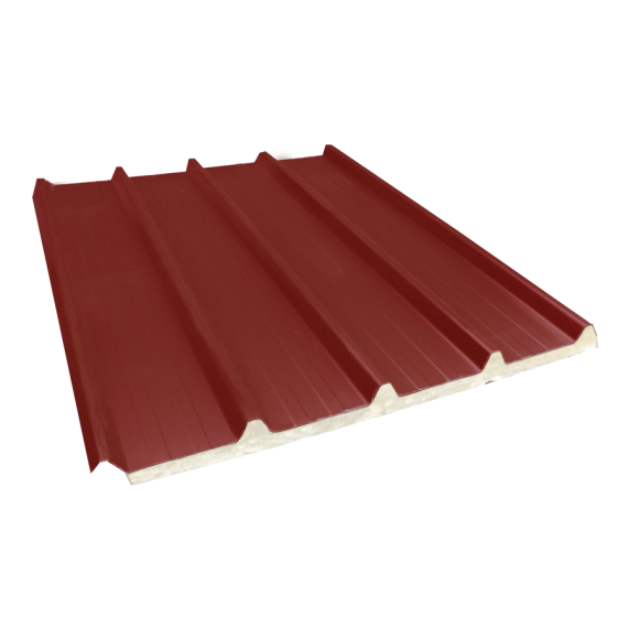 Tôle nervurée 33-250-1000 isolée économique 30 mm, brun rouge RAL8012, 8 m
