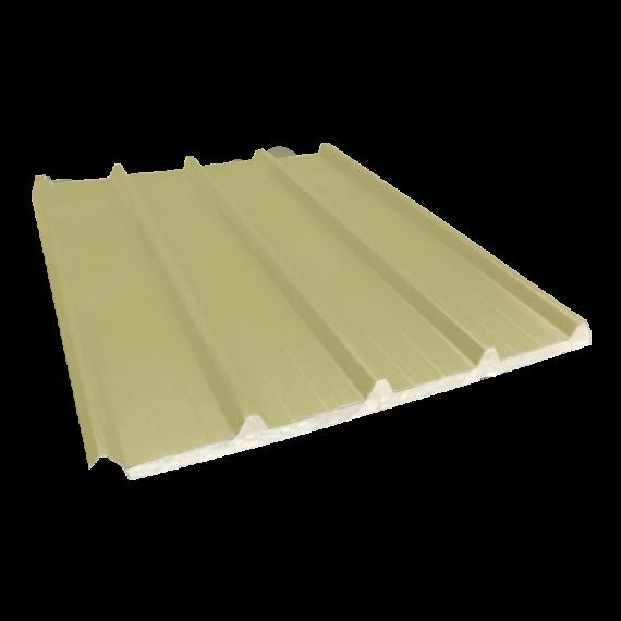 Tôle nervurée 33-250-1000 isolée économique 30 mm, jaune sable RAL1015, 5 m
